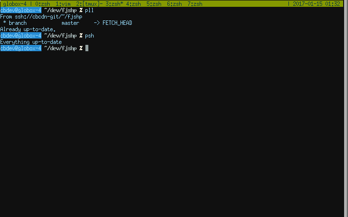 zsh within tmux within urxvt